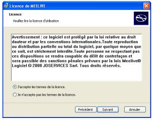 Licence messenger Meelive